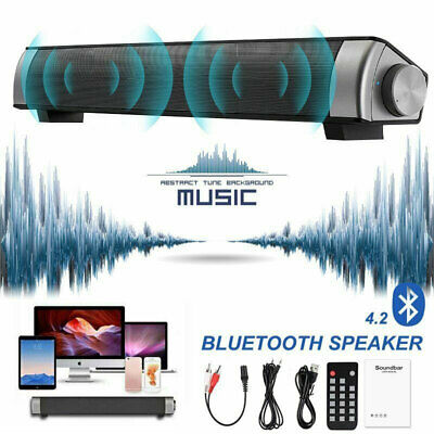 TV Soundbar Wireless Home Theater Stereo Bluetooth Speaker Deep BASS w/Remote UK