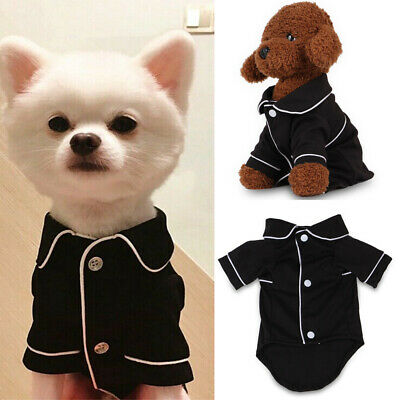 UK Pet Cat Pajamas Winter Warm Jumpsuit Clothes For Small Medium Dogs Apparels