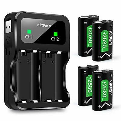 KINFAYV Xbox One Battery Pack 4 x 2580mAh Rechargeable Controller Battery and