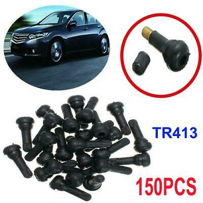 150X Tr 413 Snap-In Tire Valve Stems Short Black Rubber Most Popular Valve