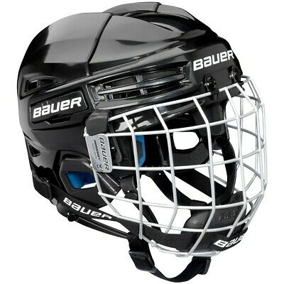 Bauer Prodigy YOUTH Combo Ice Hockey Helmet With Cage - Black