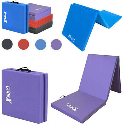Gymnastics Crash Floor Tri Folding Mats 5cm Thick Tumbling Yoga Gym Exercise 6ft