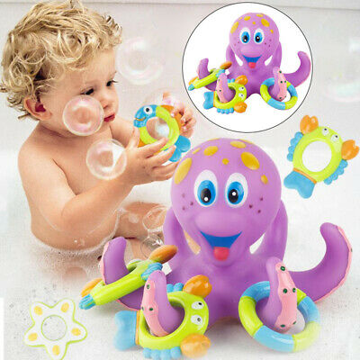 Bath Toy Baby Boy Kids Floating Octopus Children Water Bathing Toy 5 Ring Shower