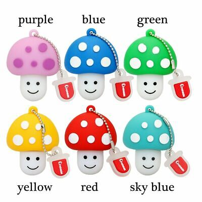 Mushrooms USB Flash Drive Thumb GB USB Memory Stick U Disk Pen Drive 4 - 128 GB