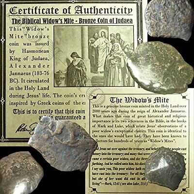 ONE 2000 Year Old Biblical Widow's Mite 103-76 BC Antique Roman Holy Land Coin