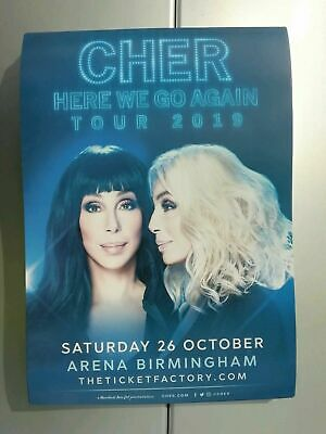 CHER -  HERE WE GO AGAIN TOUR 2019 FLYERs x4