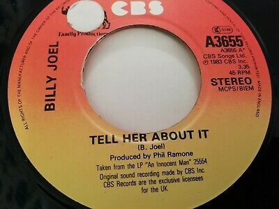 """Billy Joel * Tell Her About It * 7"""" Single Very Good 1983"""