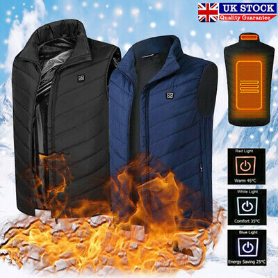 Electric Vest Heated Cloth Jacket USB Warm Up Heating Pad Body Winter Warmer Top