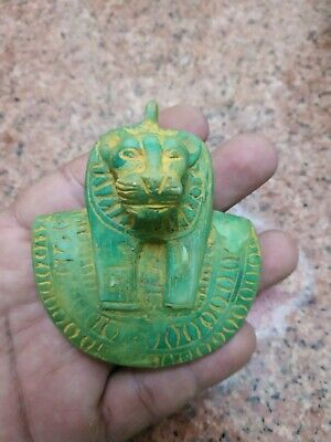 Antique Statue Rare Ancient Egyptian Pharaonic Sekhmet Glazed  Statue Amulet