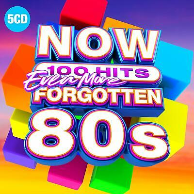 NOW 100 HITS EVEN MORE FORGOTTEN 80s (Various Artists) 5 CD Set (2019)