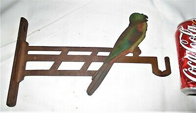 # 2 Antique Judd Usa Architectural Audubon Bird Cage Cast Iron Wall Hook Bracket