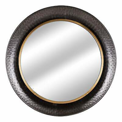 American Art Decor Round Gold Concave Silver Metal Wall Antique Brown A, N