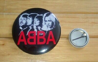 ABBA - LARGE 58mm BADGE  # 3 * NEW *