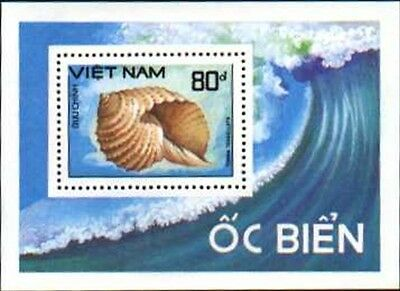 N.Vietnam MNH Sc 1923 S/S Mi Bk 64 Value US $ 5.00 Sea Shell