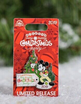 2019 Disney World Magic Kingdom Mickey's Very Merry Christmas Party Logo Pin
