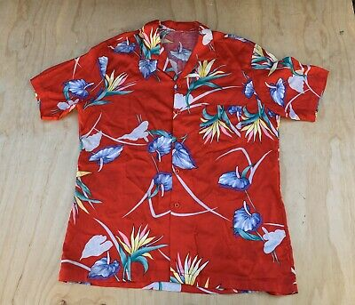 Vintage Men S Hawaiian Button Up Shirt Tony Montana Scarface