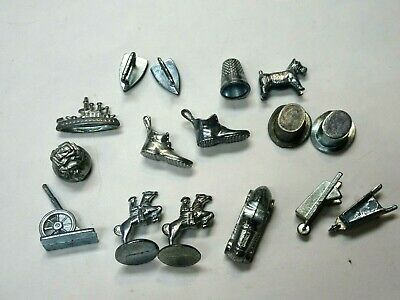 Cannon Monopoly Game Tokens Lot of 9 Moneybag Thimble Lot AC different years