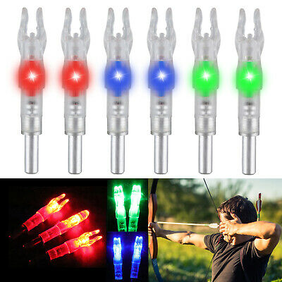 12//6X Archery Target Hunting Lighted Nock Compound Bow LED Arrows Nocks*`