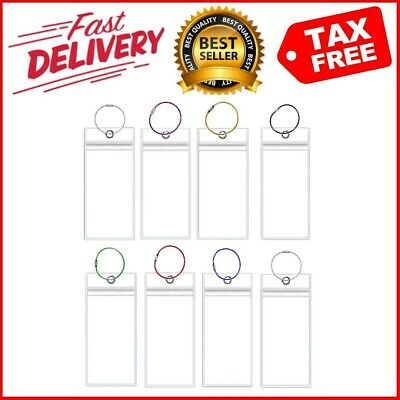 Cruise Luggage Tags Carnival Etag Holders Zip Seal 8 Pack Clear