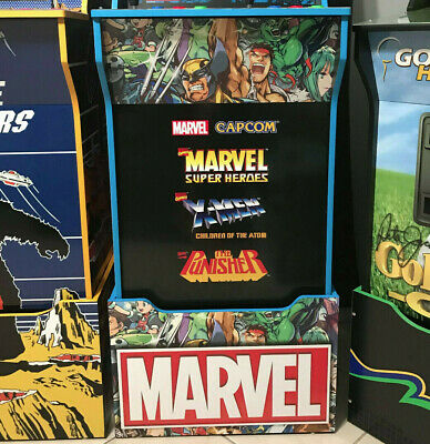 Arcade1up Cabinet Riser Graphics - Marvel Super Heroes Graphic Sticker Decal Set