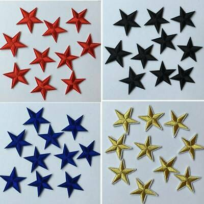 10Pcs Star Embroidery Sew Iron On Patch Badge Clothes Applique Bag Fabric DIY UK