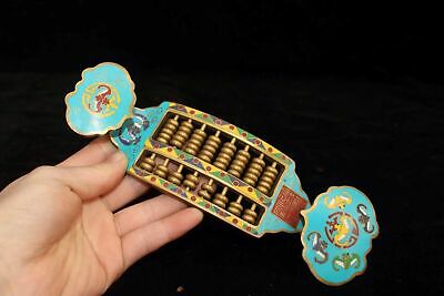 Chinese Cloisonne Hand painted wealth bat Wishful abacus Calculator