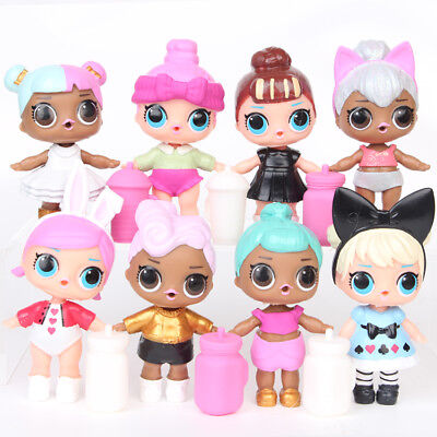 6-12Pcs/Set LOL Surprise Dolls Blind Mystery Figure Cake Topper Gift Kid Toy PVC