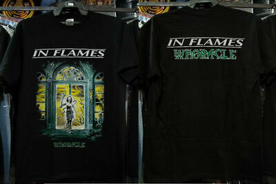 Vintage Death Metal Hard Rock Punk Band In Flames Whoracle Shirt Reprint New