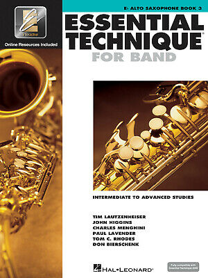 Essential Elements for Band Eb Alto Saxophone Book 3 Music Lessons Online Media