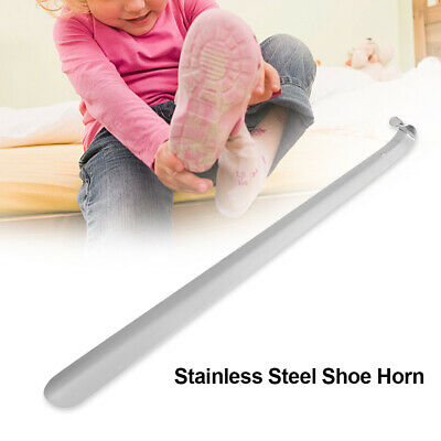 1Pc professional stainless steel silver metal shoe horn spoon shoehorn 14.5cmLY