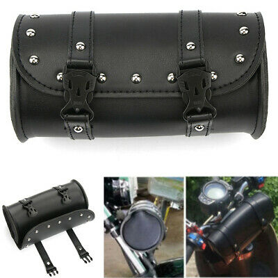 1Pcs Motorcycle Handlebar Touring Luggage Bag Saddlebag Fork Roll Barrel Bag