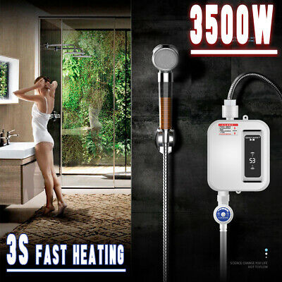 Electric Tankless Instant Hot Water Heater Kitchen Faucet Tap Heating System