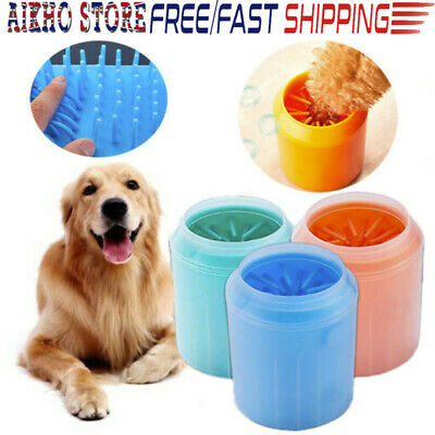 Portable Dog Pet Paw Cleaner Brush Cup Dog Foot Cleaner Silicone Bottle Tool A62