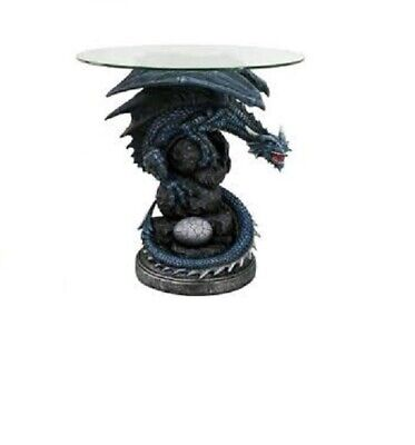 Anne Stokes Fire Breather Dragon Table With Glass Top Home Decor Statue Ornament