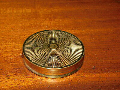 vintage ORLANE mini poudrier Case Box MIRROR miroir ART DECO gold MADE IN FRANCE