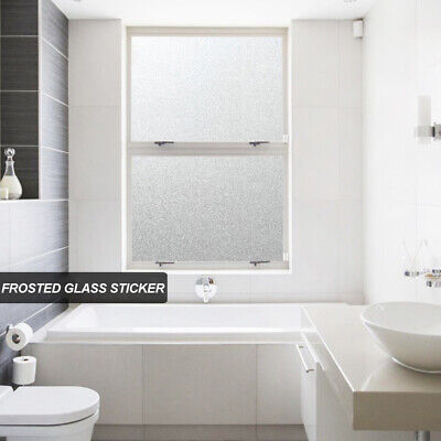 UK Frosted Window Film (BUBBLE FREE) - Self Adhesive Etched Privacy Glass Vinyl