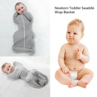 Baby Newborn Infant Swaddle Wrap Blanket Sleeping Bag For 0-6 Months Cotton