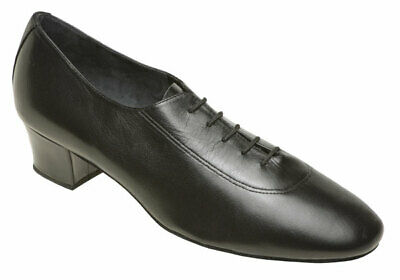 Supadance 7800 Mens Entry Level Black Leather Latin Dancing Shoes, Size 8.5