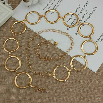 Metal Belt Alloy Buckle Belt Lady Waist Chain Women's Metal Waistband