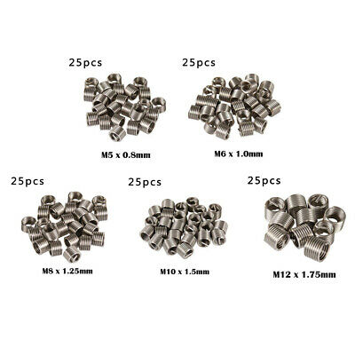Silver Helicoil Type Metric Thread Inserts Stainless Steel Repair Parts Set Kit