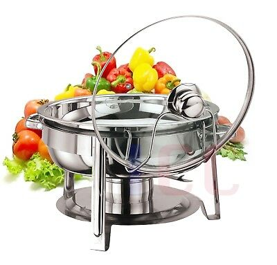 Quality chafing Round Chaffing Dish Lid BUFFET DISH FOOD WARMER warm server bbq