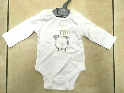 Mothercare Wake Up Baby Body All in One Age 1 or 3 Months BNWT RRP £8.95 White