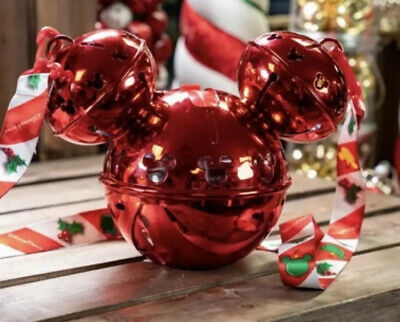 2019 Disney Parks Christmas Holiday Bell Mickey Light up Sipper Cup & Strap NEW