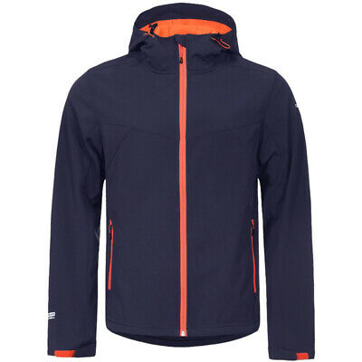 Icepeak Softshelljacke Lukas Jacke Outdoor Herren blau/orange 57974