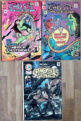Many Ghosts of Dr Graves 35, 37, 51 3 fn/fn+ 1975 Br. Age Charlton Horror Comics