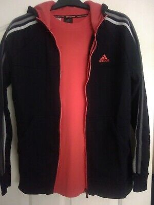 addidas boys 3 piece Black and red tracksuit Age 13-14 yrs.