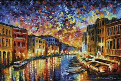 Venice, Italy - Art Poster (The Grand Canal - By Leonid Afremov)