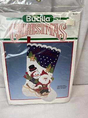 "Bucilla Christmas SLEIGH RIDE Felt Stocking Kit 82727 NEW 18"" Sequence"