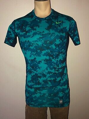 Nike Pro Combat Mens Fitted Dri Fit Compression Shirt White Sleeve Medium