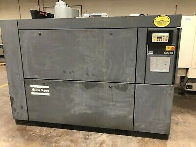 75 HP Atlas Copco Model GA55 Rotary Air Compressor New 1996